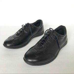 ECCO Babett II Tie Leather Black Lace Up Sneakers